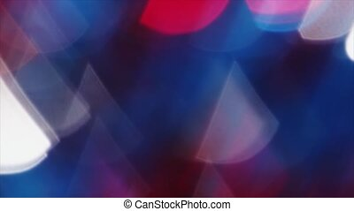 4K Steady Of Focus Triangular Bokeh Colorful On Flicker