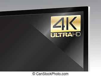 4K sticker on TV