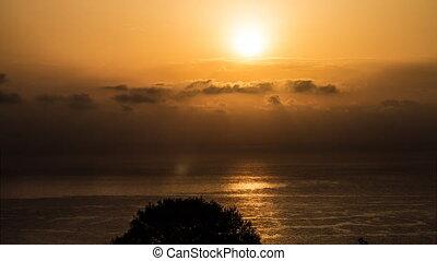 4k sunrise over the ocean, Sardinia
