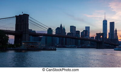 4K Sunset timelaspe of Manhattan