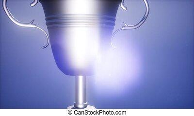 4K Super slow motion Champion trophy cup