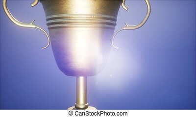 4K Super slow motion Champion trophy cup