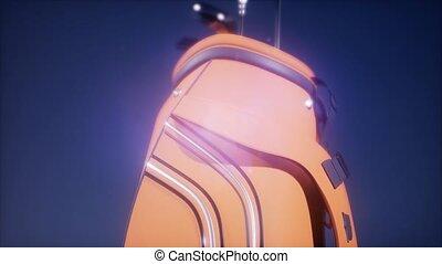 4K Super slow motion Golf putter in a golf bag