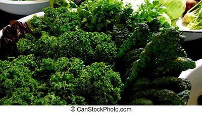 4k, table, légumes frais