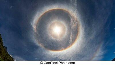 4K, Time Lapse, 360 Degree Halo, Full Circle Rainbow,...