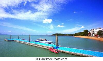 4K Time lapse at Bophut beach in Koh Samui. Thailand video -...