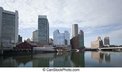 4K Time lapse Boston waterfront