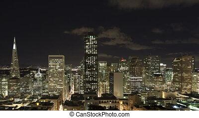 4K Time lapse close up San Francisco night