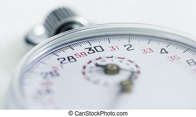 4K Time lapse close up Stopwatch