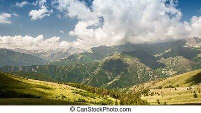 4K, Time Lapse, Clouds Over Italian Mountain Range