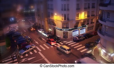 4k Time Lapse, crossroad in Cannes