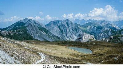 4K, Time Lapse, Epic View On Rocca La Meija Mountain Range, France - Cold Version, Pan