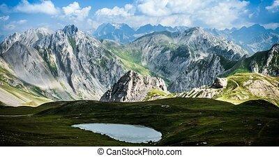 4K, Time Lapse, Epic View On Rocca La Meija Mountain Range,...