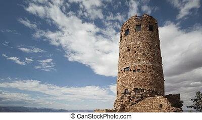 4K Time lapse Grand Canyon village watchtower - 4K Time...
