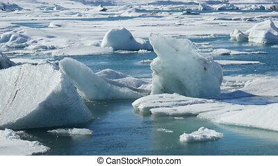 4K Time lapse Iceberg close up Joku