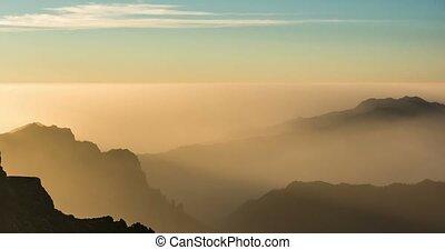 4k Time Lapse, La Palma, Roque De Las Muchachos in the...