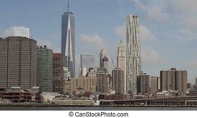 4K Time lapse Manhattan skyline