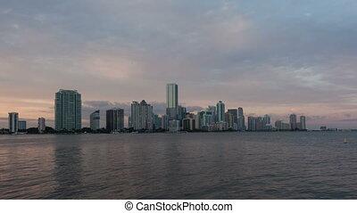 4K Time lapse Miami Skyline