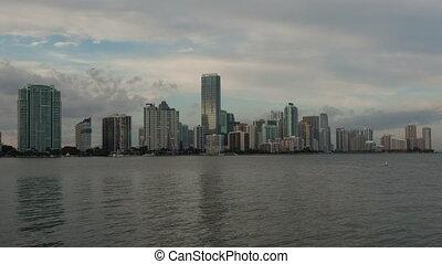 4K Time lapse Miami Skyline long version