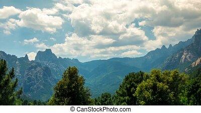 4K, Time Lapse, Mountain Range at Col De Bavella, Corsica