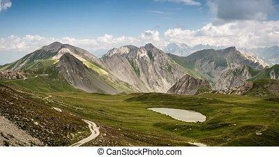 4K, Time Lapse, Mountain Range At Gias Bandia, Italy - Neutral Version, Pan