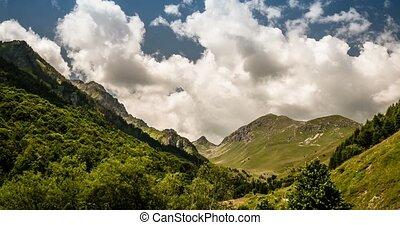 4K, Time Lapse, Mountains At San Giacomo, Italy