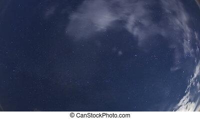 4K Time lapse night sky stars