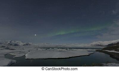 4K Time lapse Northern Lights J?kul