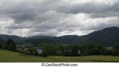 4K, Time Lapse of Ardal landscape, - 4K Timelapse of ...