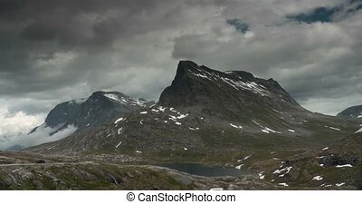 4K, Time Lapse of Trollstigen lands - 4K Timelapse of...