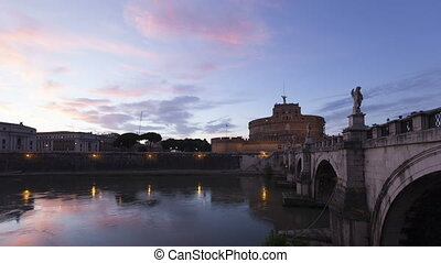 4K Time lapse Rome Castel Sant Angelo
