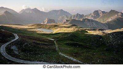 4K, Time Lapse, Sunrise At Rocca La Meija Mountain Range, France