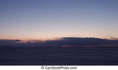 4k Time-lapse Sunset on Arctic Alaska Winter