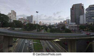 4K Time lapse Traffic Sao Paulo