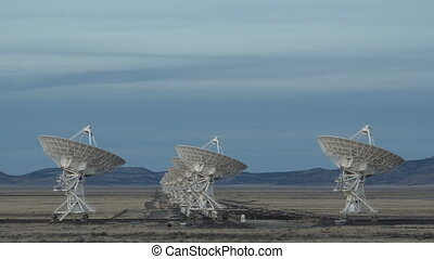 4K Time lapse Very Large Array Radio Telescopes