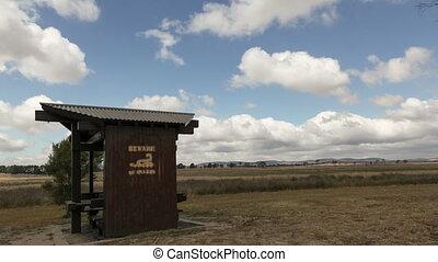 4K Time lpase Snake Warning - 4K Time lapse of hut in the...