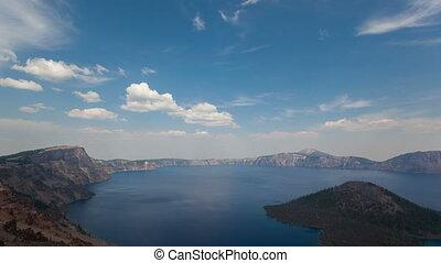 4K Timelapse Crater Lake National Park zoom in - 4K...