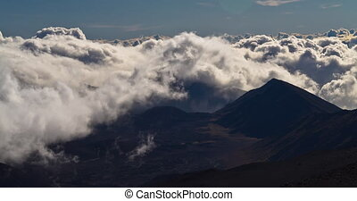 4k Timelapse, Haleakala Volcano - Shot early in the morning...