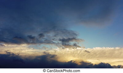 4k timelapse of majestic evening sky. High quality, not...