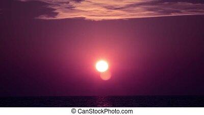 4K, Timelapse, Sunrise, Corsica Beach