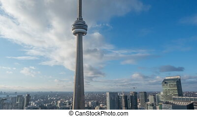 4K Timelapse view of the Toronto Skyline. All...