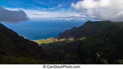 4k Timelapse, Waimea Canyon, Kauai, - Shot on exactly this...