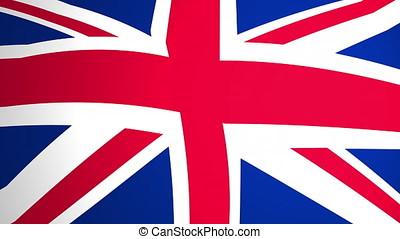 4K Transition Scene - Flag - United Kingdom (UK) on green screen