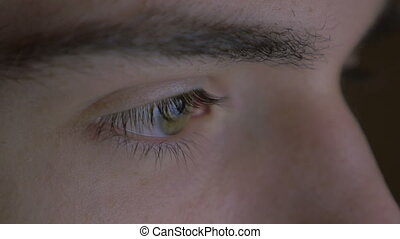 Close-up of a young man eyes
