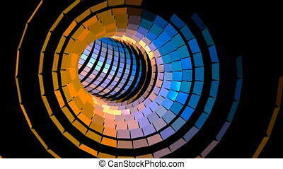 4K UHD VJ Colorful Flashing Light Wormhole Tunnel