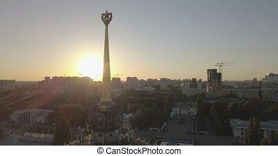 4k, ukraine., exposition, 240fps, ville, sunset., kiev,...