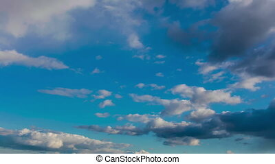 blue sky - 4K (ultra HD) video of blue sky with clouds. ...