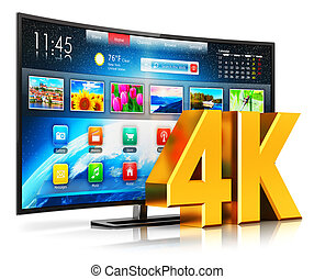 4K UltraHD curved smart TV