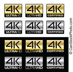 4K UltraHD - Differents vector 4K logos for UltraHD...