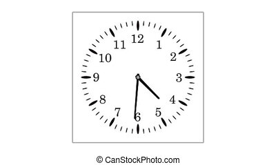 loopable video animation of timelapse of clock